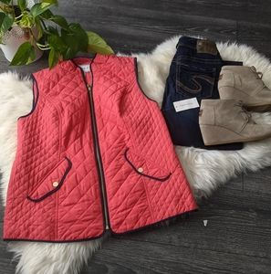 CHARTER CLUB - NWT Fushia Quilted Vest